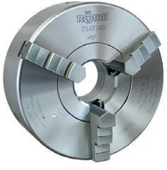 Фото ZS-ZSU Трехкулачковый токарный патрон Röhm Type ZS, DIN 55027 Ø=125 mm; Конус 4 - steel-RO-101692