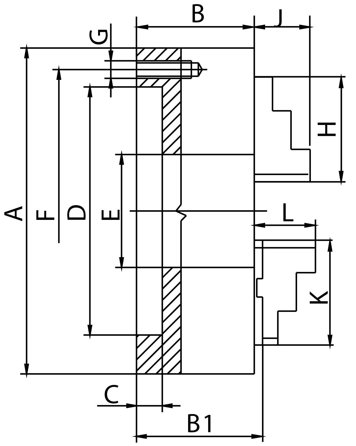 Смотреть фото №1 для Токарный патрон двухкулачковый D=160 mm-ZE-6252-160