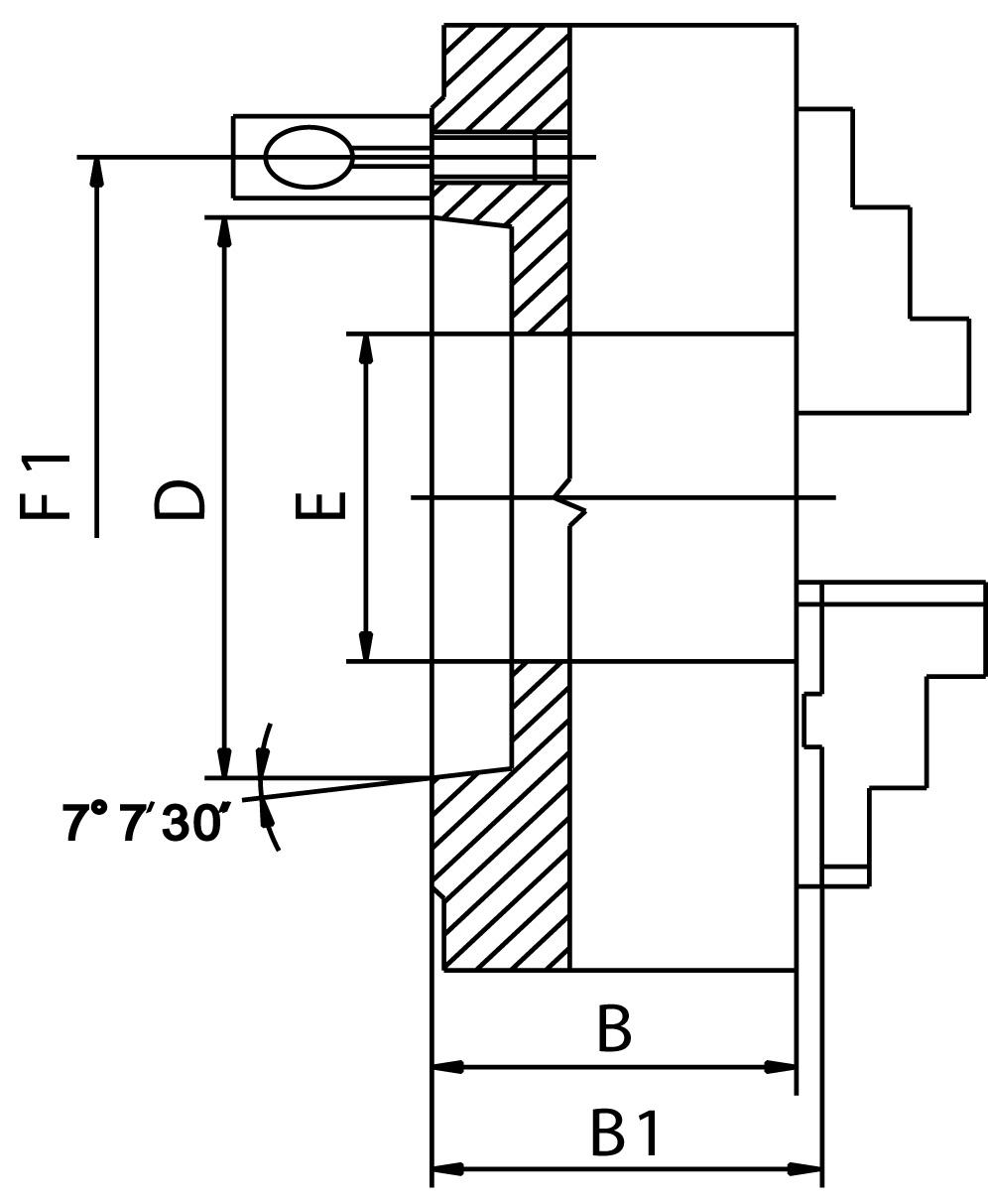 """Смотреть фото №1 для Токарный четырехкулачковый патрон D=160-4\ mm (55029) - STEEL-ZE-8459-164"""""""