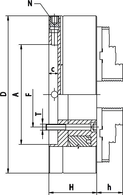 Смотреть фото №1 для Патрон токарный 6 кулачковый D=630 mm - STEEL-ZE-8663-630