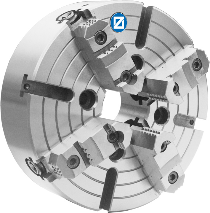 Фото Токарный патрон c независимыми кулачками, D=1000 mm, cyl. - STEEL-ZE-5160-1000 zentra
