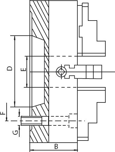 """Смотреть фото №1 для Токарный патрон c независимыми кулачками D=250-4\ mm (55026) - CAST IRON-ZE-4156-254"""""""