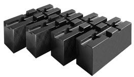 Фото Мягкие накладные кулачки для патрона с независимыми кулачками, d=315 mm-ZE-WAB43-315 zentra
