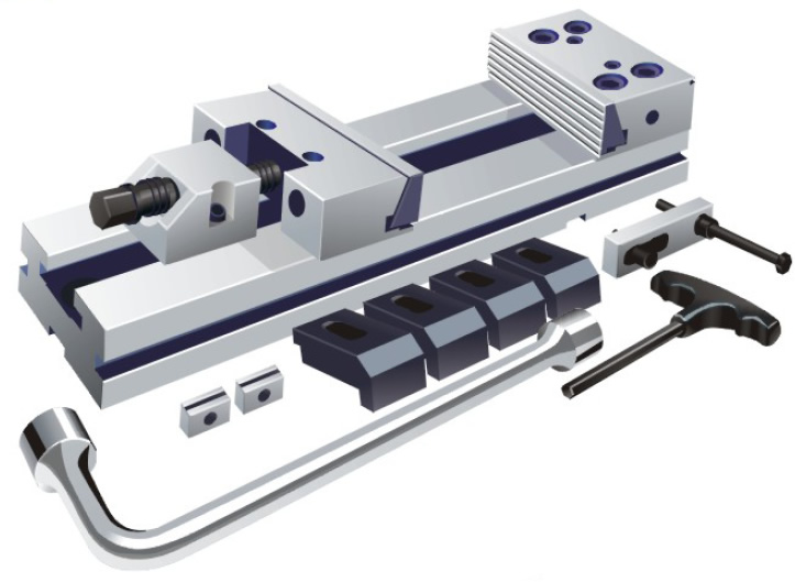 Фото Высокоточные тиски станочные Type CMC, 125/345-ZE-CMC-125/150 zentra