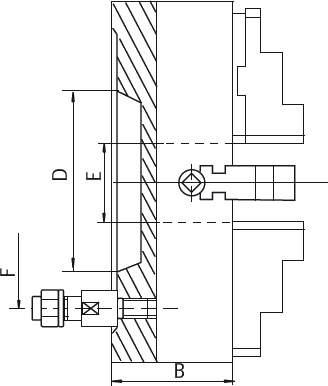 """Смотреть фото №1 для Токарный патрон c независимыми кулачками D=250-8\ mm (55027) - CAST IRON-ZE-4157-258"""""""