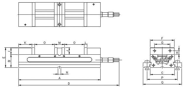 Смотреть фото №1 для Самоцентрирующиеся высокоточные тиски TLD-150-ZE-TLD-150
