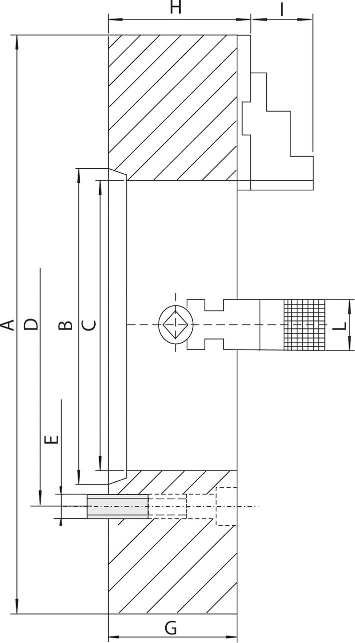 """Смотреть фото №1 для Усиленный токарный патрон c независимыми кулачками D=630 mm, acc. to DIN 55026-\15 - STEEL-ZE-5166-615HD"""""""