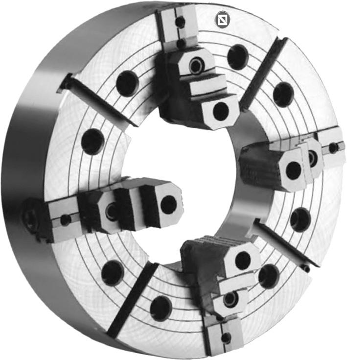 Фото Усиленный токарный патрон c независимыми кулачками D=1000 mm, zyl. - STEEL-ZE-5160-1000HD zentra