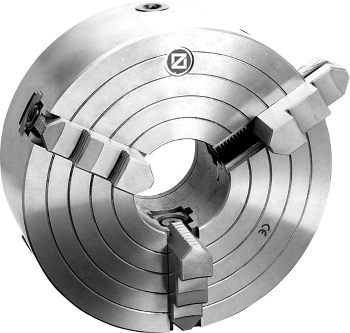 Фото Cамоцентрирующий 3 кулачковый токарный патрон с независимым перемещением кулачков, Ø 400 mm - STEEL-ZE-WS320-400 zentra