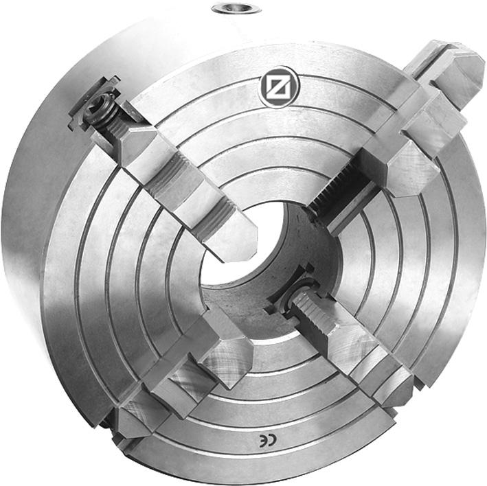 Фото Cамоцентрирующий 4 кулачковый токарный патрон с независимым перемещением кулачков, Ø 400 mm - STEEL-ZE-WS420-400 zentra