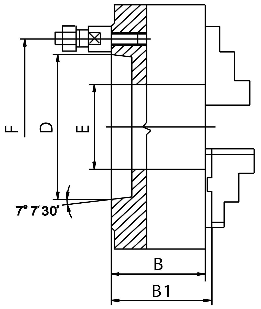 """Смотреть фото №1 для Токарный четырехкулачковый патрон D=200-4\ mm (55027) - STEEL-ZE-8457-204"""""""