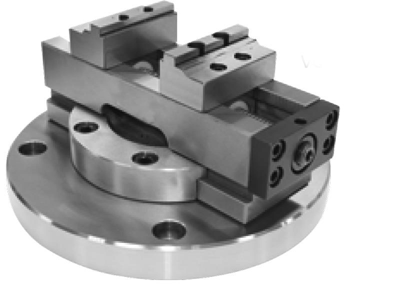 Фото Самоцентрирующиеся тиски с поворотной пластиной Typ ZSM2 D=100-ZE-ZSM2-100D zentra